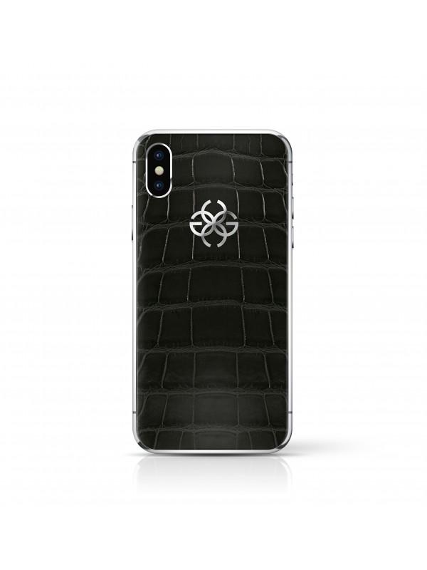 iPhone X 256 GB Black Croco - Silver