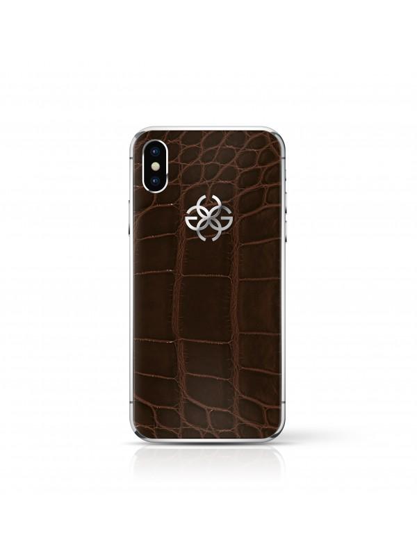 iPhone X 256 GB Brown Croco - Silver