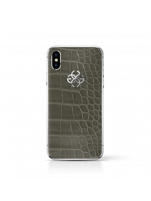 iPhone X 256 GB Grey Croco - Silver