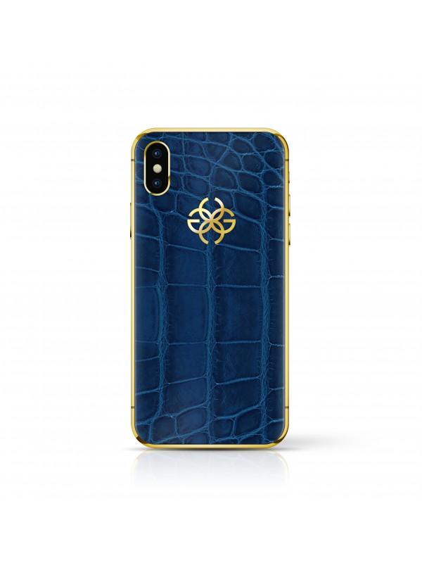 iPhone X 256 GB - Navy Croco Gold