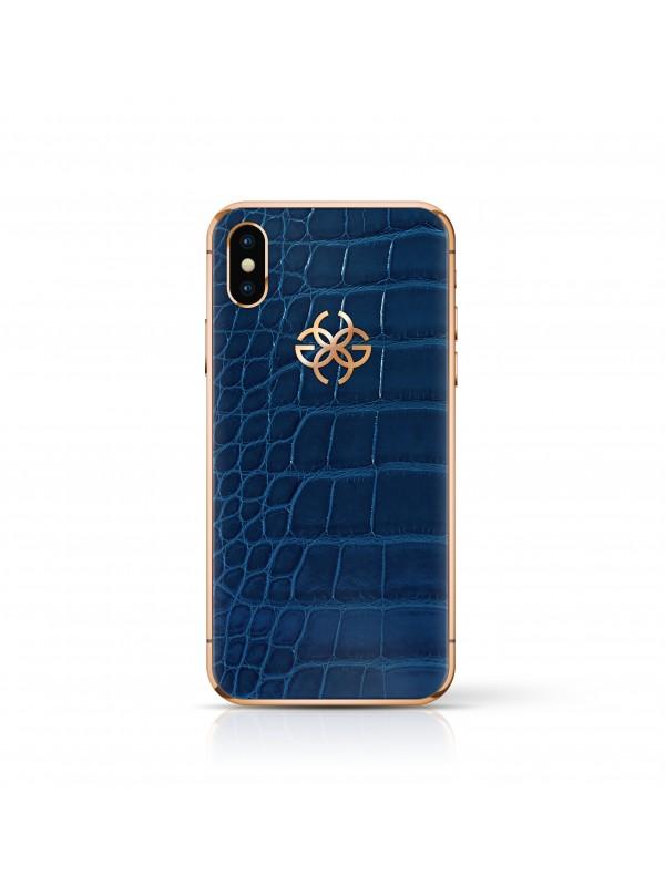 iPhone X 256 GB - Navy Croco Rose Gold